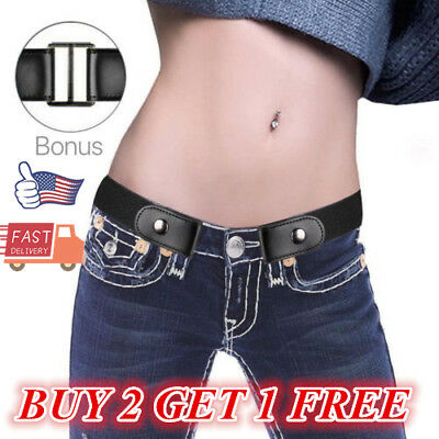 Buckle-Free Adjustable Belt High Quality + Free Shipping Women Stretch US Gift