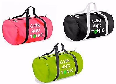 Gym And Tonic Bag Barrel Bag Gym Yoga Pilates Funny Holdall Christmas Gift