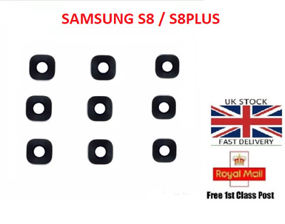 For Samsung Galaxy  S8,S8 plus Back Rear Camera Glass Lens Cover with Adhesive