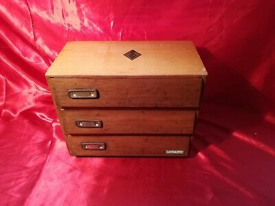 Antique Watchmakers Cabinet 3 Drawer