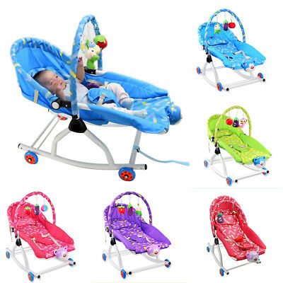 New Baby Rocker Bouncer Reclining Chair Soothing Music Vibration Toys 5 Colors