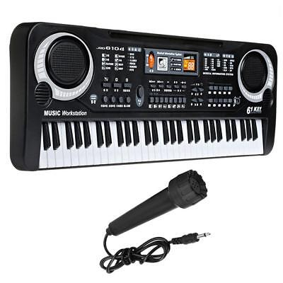 Digital 61 Tasten E-Piano Einsteiger Keyboard Klavier 16 Sounds 10 Rhythmen Mic