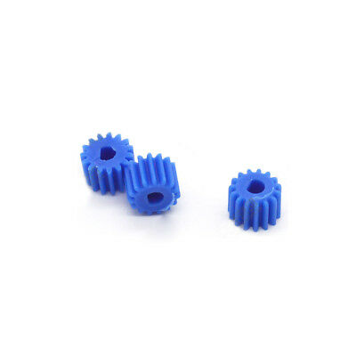 10pcs Bore 3/4mm 0.5M 15T Pinion Gear D Hole Blue For N20 Motor Robot Toy Model