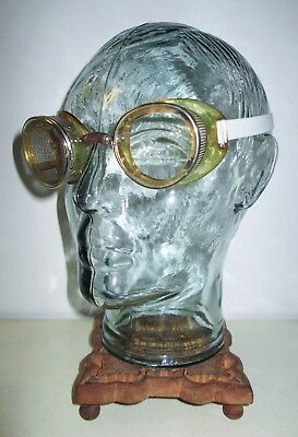 Antique Bausch & Lomb Safety Glasses Goggles Vtg Ray Ban Steampunk B&L Vtg Old