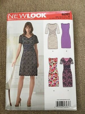 f7c61e6aeb9 NEW LOOK SEWING Pattern 6344 Misses 8-20 Tops W  Neckline Pleats ...
