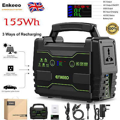 155Wh Solar Power Electric Generator Supply Energy Storage Battery Charging UK