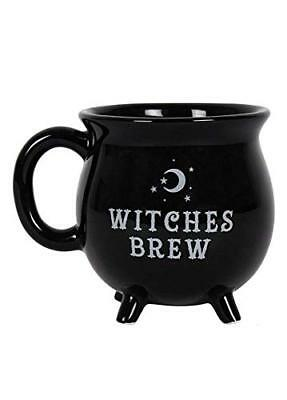 Witches Brew Cauldron Mug - Black Collectible Mug Magic Wicca Gothic Pagan