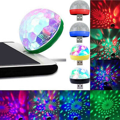 USB Mini LED RGB Disco Stage Light Party Club DJ KTV Magic Phone Ball Lamps b