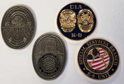 Lot 2 Coins: CIA Central Intelligence Agency Special Services K9 K-9 Canine Coin