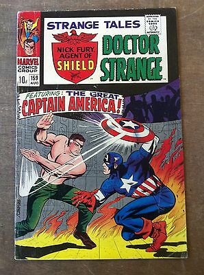 STRANGE TALES #159, 1967. SHIELD AND DOCTOR STRANGE. FURY vs CAP