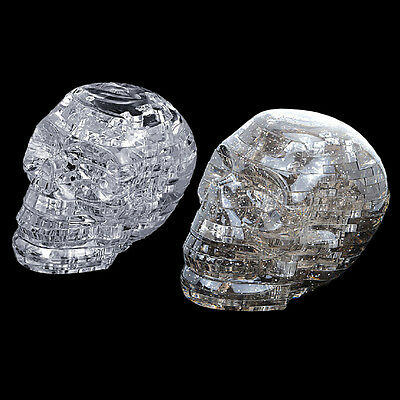 NEW 3D Crystal Puzzle DIY Jigsaw Assembly Model Gift Toy Skull Skeleton LB