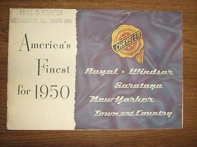1950 Chrysler fold out dealers brochure(Royal,Windsor,New Yorker, T&C.