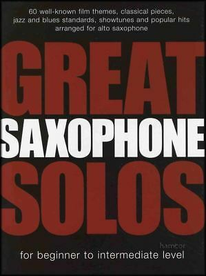 GREAT SAXOPHONE SOLOS Beginner to Intermediate Alto Sax Sheet Music