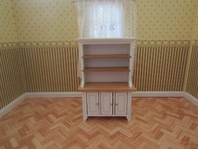 Streets Ahead Dolls House White And Pine Kitchen Dresser