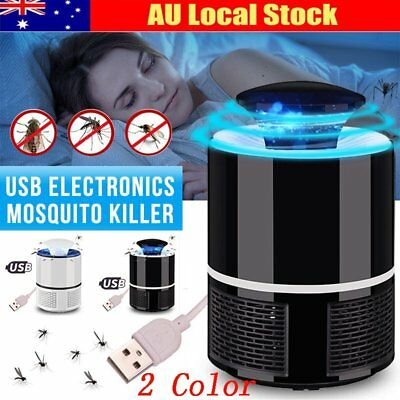 Electronic Mosquito Killer Bug Zapper Trap LED Light USB Powered Insect CatchO2