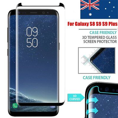 Galaxy S8 S9 S9 Plus Case Friendly tempered Glass Screen Protector for Samsung