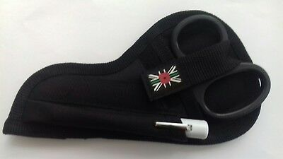 Tuff /tough cut and pen torch pouch poppy -green line ambulance union jack-