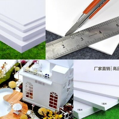 1pc PVC Foam Board Plastic Sheets Craft Thick 2mm-8mm Sand Table Model Material