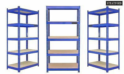 Pack of 3 STRATFORD™ 210cm wide, 150cm Tall, 5 Tier Metal Shelving Racking Stora