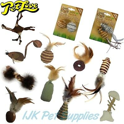 Pet Love Cat Kitten Toy Pack packs – 4 toys or 10 toys – Good Quality and Value