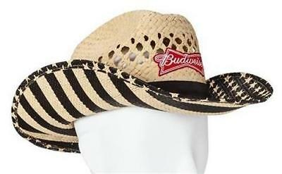 NEW RARE! Budweiser Beer USA Patriotic Cowboy Hat TOO COOL! Last ... 77ee763a825
