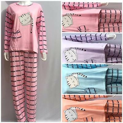 Pyjama Set Pyjamas PJs Winter Nightwear Size 10-22 Womens Ladies Loungewear