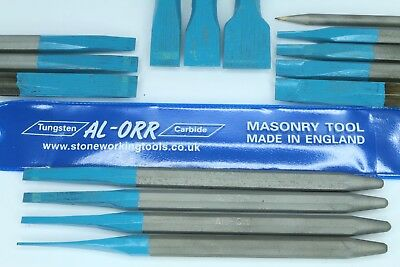Al-Orr Tungsten Carbide Tipped Lettering Chisels - TCT Stone Carving Chisels