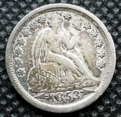 1853 (W/ Arrows) Seated Liberty Dime | VERY FINE | Nice, Original Coin!