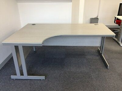 Used Office Desk , Pale Grey