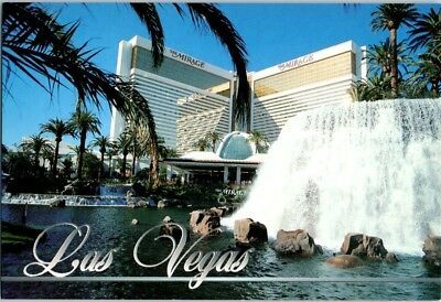 OLD Mirage Volcano Famous Las Vegas Strip b4 Mickey Hart Hotel Casino postcard A