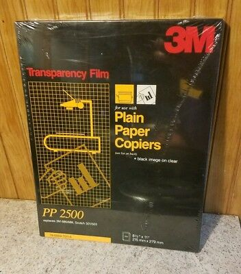 3M Transparency Film PP2500 (100 sheets) - brand new & sealed