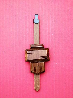 New  genuine Black Forest hand carved chalet style cuckoo clock pendulum  ( 5 )