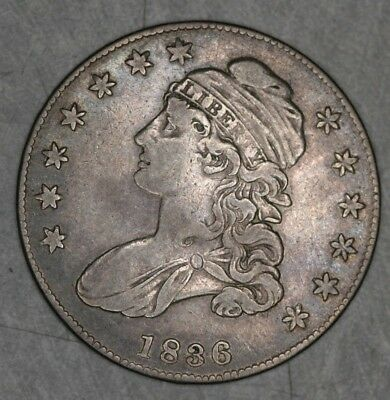1836 P Capped Bust Half Dollar 50c VF Very Fine 50 cents Lettered Edge