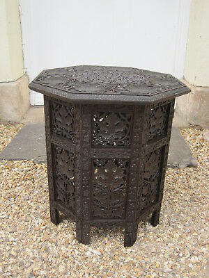Antique Anglo Indian Carved Hardwood Side Table*