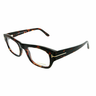 8ca7e6d01b64 TOM FORD FT 5415 054 Red Havana Plastic Rectangle Eyeglasses 50mm ...