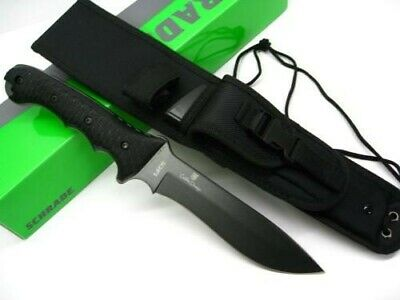 Schrade SCHF9 Tactical Black Extreme Survival Fixed Drop Point Knife + Sheath