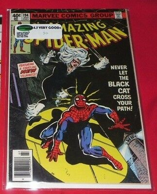 Amazing Spider-Man 194 Bronze Age(1979)1St Appearance Of The Black Cat.key Issue