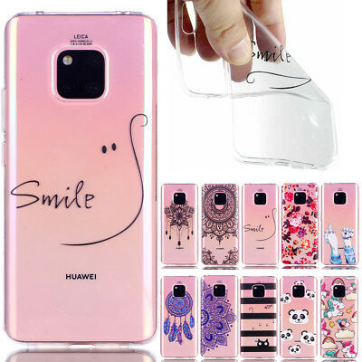 Transparent Silicone TPU Pattern Phone Case Back Cover for iPhone Samsung Huawei