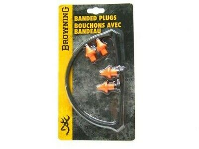 Browning 12686 Compact Shooting Range Hearing Protection Banded Ear Plugs Muffs