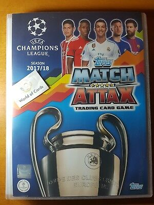 Topps Champions League 17-18 Match Attax Full Album Complete