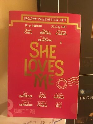 RARE SHE LOVES ME BROADWAY Mailer Flyer JANE KRAKOWSKI Musical Lauren Benanti