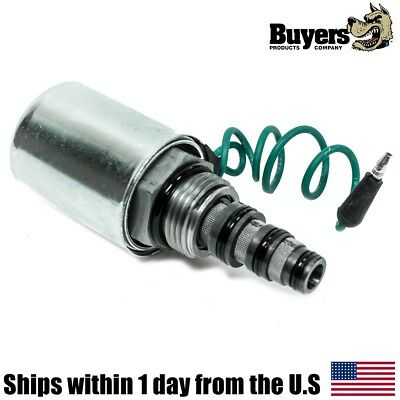 """New Snow Plow 1//2/"""" SOLENOID COIL /& VALVE /""""A/"""" Black Wire for Buyers SAM 1306035"""