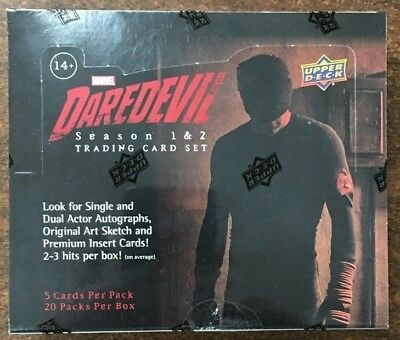 2018 Upper Deck Marvel Daredevil Trading Cards Factory Sealed Hobby Box