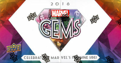 2016 Upper Deck Marvel Gems Factory Sealed Hobby Box