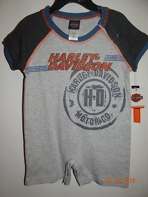 NWT Harley Davidson 1 piece Short Outfit Infant Baby 24 Mos NWT Free Shipping