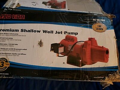 Red Lion RJS-100-PREM 602208 Premium Cast Iron Shallow Well Jet Pump