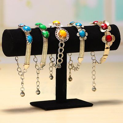 Velvet T-Bar Jewelry Rack Bracelet Necklace Stand Organizer Holder Display Lot C