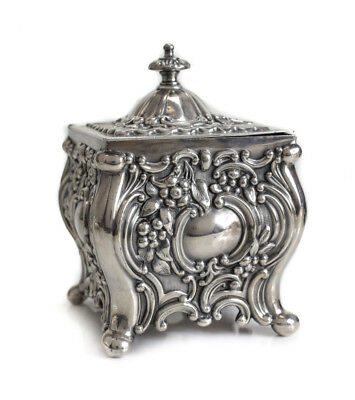 Continental Silverplate Electroplate on Copper Tea Caddy, 19th Century