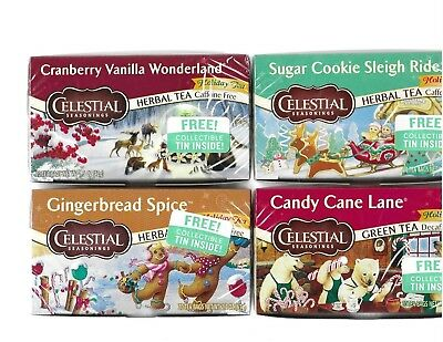 Celestial Seasonings Herbal Tea w/ Collectible Tin Sealed NEW 2018/19 VARIETIES