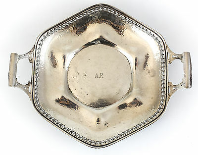Watson Company Sterling Silver Tray #8142, c1910 Arts & Crafts Hand Hammered